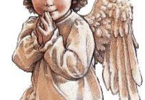 Anioły / Haft krzyzykowy
