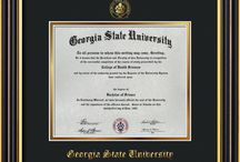 Georgia State University Diploma Frames and GSU Graduation Gifts! / Official GSU Diploma frames. Exquisitely crafted to exacting specifications for the GSU diploma. Custom framed using hardwood mouldings and all archival materials, including UV glass to prevent fading from sunlight AND indoor incandescent lighting! Each frame exceeds Library of Congress standards for document preservation and includes a 100% lifetime guarantee, ensuring that a hard-earned achievement will be honored and protected for generations. Makes a thoughtful and unique graduation gift!