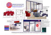 Agence auto école / Concept et rénovation décoration d'une agence d'auto école