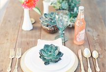 Coastal Table Inspiration / Inspiration for prettying up your table!