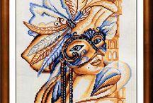 Cross stitch Mask's +Clowns