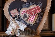 VALENTIJN / VALENTINE / Handgemaakte kaarten met stempeltechnieken, cadeauverpakkingen en andere creaties binnen het thema Valentijn