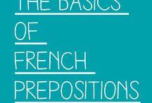 Apprendre le francais - Prepositions, liaisons, negations