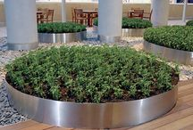 Stainless planters