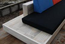 Houten meubelen / Bank