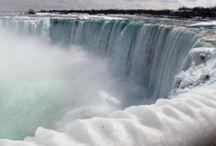 Niagara Şelalesi buz dağları oluşturdu