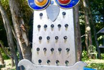 Hootenannies / recycled owl recycled art upcycle recycled materials owl