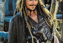 Johnny Depp, from: Pirates Of The Carribian movie's.