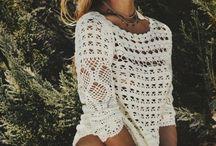 SUMMER WHITES & CROCHET / Golden rays white garnets, sexy crochet
