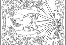 Coloring Pages >> Dover / Free sample pages from Dover Publications.  / by Bernadette Kay Post Nierman