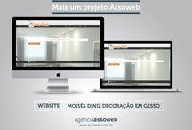 Portfolio / Mais um projeto desenvolvido pela agência Assoweb, website Moisés Diniz Decoração em Gesso. #LigaLaNaAssoweb : 31 3428-1620 - 31 3047-2509 #MaisumprojetoAssoweb #Projetosaudaciosos #website #Assoweb