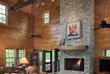 Living Areas and Great Rooms- Honest Abe Log Homes / This board is about the look and design of living areas and great rooms in log cabin and log homes. It for people in interested especially in Honest Abe Log Homes.