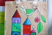 malované tašky