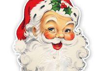 Jultomtar/Santa Claus / Tomten som kan vara både snäll och skrämmande/Santa Claus can be both kind and frightening / by Mahill
