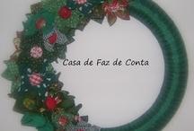 Christmas, Natal, Noël, Navidad / #Christmas #Natal #Navidad #Noël #SantaClaus #PèreNoel #guirlande #guirlanda / by Janaína Marson
