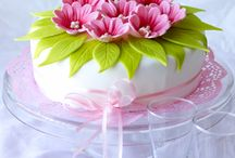 tortas flores fondant