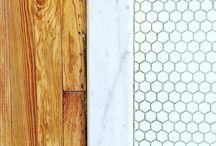 Powder room tile/wood