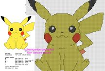 Schemi punto croce gratis Pokemon / Schemi punto croce gratis Pokemon, da scaricare e ricamare gratuitamente.