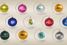 Bombki reklamowe / Bombki reklamowe - idealny upominek reklamowy dla klientów i kontrahentów firmy. Bombki z nadrukiem logo i/lub życzeń świątecznych.