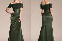 Dark olive green Mother of the Bride