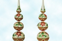 Collectible Glass Tree Toppers / Patricia Breen & Christopher Radko European hand blown Christmas tree & other holiday tree toppers & finials.  Display these finials year round!