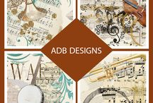 ADB Designs Commercial Use Designer Tools / Quality Commercial Use tools for digital artists, designers, and scrapbookers.  CU Elements and Papers are great when making a kit or simply to add that perfect finishing touch to your vintage layout.