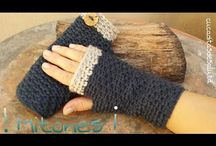 guantes en crochet