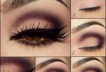 Eye makeup : smoky neutral