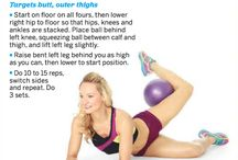 With a toy plastic ball / Using a light pilates ball or a kid's ball