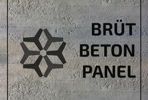 Brüt Beton Panel