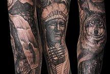 Native american tattoo artist