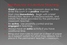 Substitute Teaching Tips / by Mary R