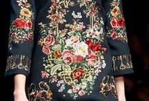 Clothes with embroidery