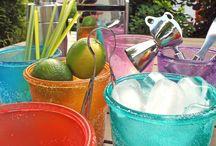 Glasgestaltung DIY / Dekoratives Glas- und Porzellandesign mit verschiedenen Effektfarben.  Decorative glas- and china ware design with different effect paints.