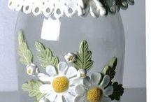 украшение банок стеклян