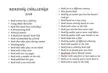 Caroline's 2018 Reading Challenge
