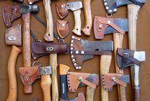 Топоры, ножи