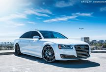 2015 Audi A8 with 22 Inch BD-2's in Full Graphite / Go to www.blaquediamond.com to see our full range
