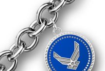Women's Military Bracelets and Necklaces / PriorService offers women's charm bracelets and pendant necklaces for Army, Navy, Air Force and Marines.