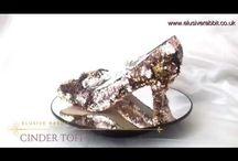 Cinder Toffee Rose Gold heels