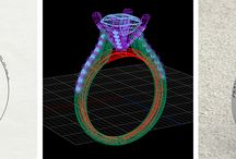 Custom CAD Design Jewellery / Neville Jordan will discuss your specific design and budget requirements, then create a computer image of the design for you to see before the ring is manufactured. Neville believes this gives you confidence in the final result.