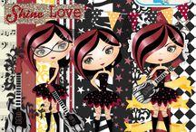 Blog Hop KEEP CALM & ROCK On Another Year / Trabajos del Blog Hop realizados con el kit She's a Star de Nini Scrap