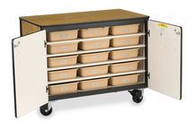 Virco Storage Solutions / Versatile solutions to keep you organized from the classroom to the board room.  http://virco.com/storage