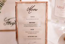 Déco table mariage P+A