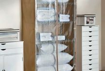 Closet Organizers / Clever ways to organize your closet including unique shoe racks, jewelry armoires, purse organizers and more. Get ideas on how to utilize all of the space in your tiny closet. / by Improvements Catalog
