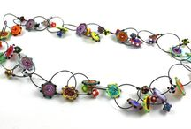 Lyn Foley: The Long Necklace Collection - Glass Jewelry / Long necklaces with glass beads by artist Lyn Foley
