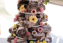 Wedding Cake Alternatives / For those of you want to break the mold and move away from the traditional wedding cake.....kind of like having your wedding in an art studio ;)