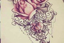 Тату троянд