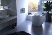 Badsanierung mit Beton Cire / Fugenlose Badgestaltung auf Altbestand z.B. alten Fliesen, Waschtischen etc. mit Beton Cire