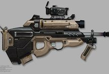 Weapon Concepts / Mostly sci-fi looking weapon concept arts or photos.
